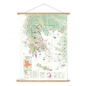 griekenland poster wijnkaart