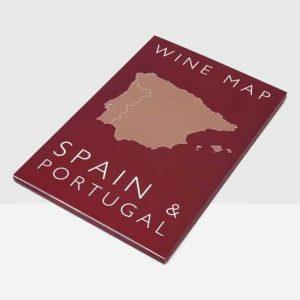 spanje portugal poster wijnkaart